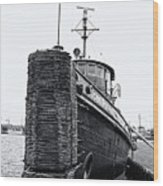Sturgeon Bay Tug Boat Wood Print