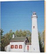 Sturgeon Point Lighthouse, Michigan - Horizontal Wood Print
