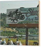 Sturgis City Of Riders Wood Print