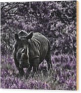 Styled Environment-the Modern Trendy Rhino Wood Print