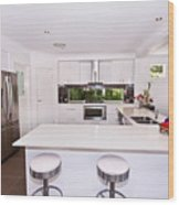 Stylish Modern Kitchen Wood Print