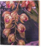 Stylized Orchids Wood Print