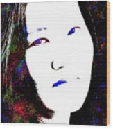 Stylized Woman's Portrait Wood Print