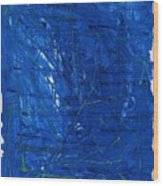 Subatomic Particles In Blue State Wood Print