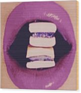 Subcultured Candied Lips Wood Print