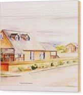 Subdivison Rendering Wood Print