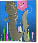 Submerged World Wood Print