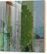 Subtle Reflections Wood Print by Nabila Khanam