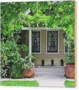 Suburban House Hayward California 17 Wood Print