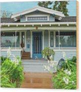 Suburban Arts And Crafts House Hayward California 8 Wood Print