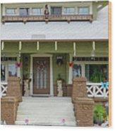 Suburban Arts And Crafts Style House Hayward California 15 Wood Print