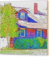 Suburban Home 4 Wood Print