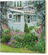 Suburban House Hayward, California 7, Suburbia Series Wood Print