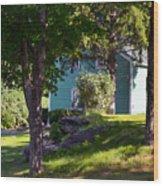 Suburban House Wood Print