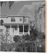 Suburban House On Hayward Boulevard Hayward California 2 Wood Print