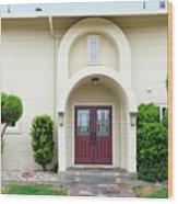 Modern Suburban House With Topiary Hayward California 31 Wood Print
