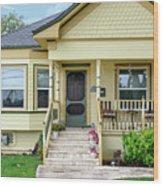 Suburban Victorian Cottage House Hayward California 37 Wood Print