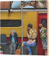 Subway - Lonely Travellers Wood Print by Anne Klar