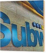 Subway Entrance Wood Print