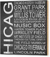 Subway Chicago 1 Wood Print