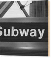 Subway Wood Print