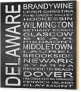 Subway Delaware State Square Wood Print