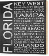 Subway Florida State 3 Square Wood Print