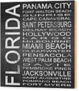 Subway Florida State Square Wood Print