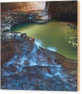 Subway In Zion National Park Utah Wood Print by Pierre Leclerc Photography