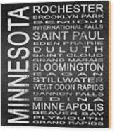 Subway Minnesota State Square Wood Print