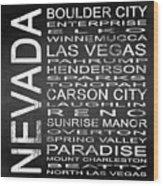 Subway Nevada State Square Wood Print
