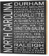 Subway North Carolina State Square Wood Print