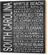 Subway South Carolina State Square Wood Print