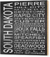 Subway South Dakota State Square Wood Print