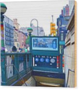 Subway Station Entrance 2 Wood Print