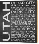 Subway Utah State Square Wood Print