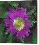 Succulent Bloom Wood Print