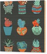 Succulent Garden No. 1 Wood Print
