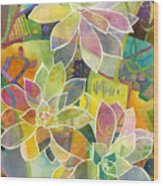 Succulent Mirage 1 Wood Print