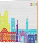 Sucre Skyline Pop Wood Print