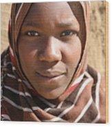 Sudanese girl Wood Print