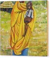Sudanese Mother And Child Wood Print