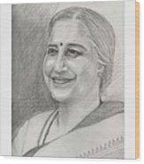Sudha Murthy A Philanthropist  Wood Print