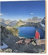 Sue Lake Overlook 2 - Glacier National Park Wood Print