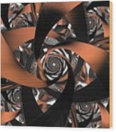 Suede Spiral Wood Print