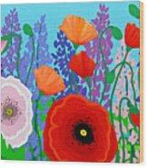 Sue's Flower Bed Wood Print