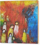 Suffer The Children Wood Print