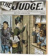 Suffrage Cartoon, 1884 Wood Print