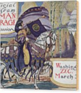 Suffragette Parade, 1913 Wood Print