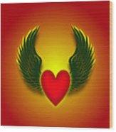 Sufi Heart I Wood Print